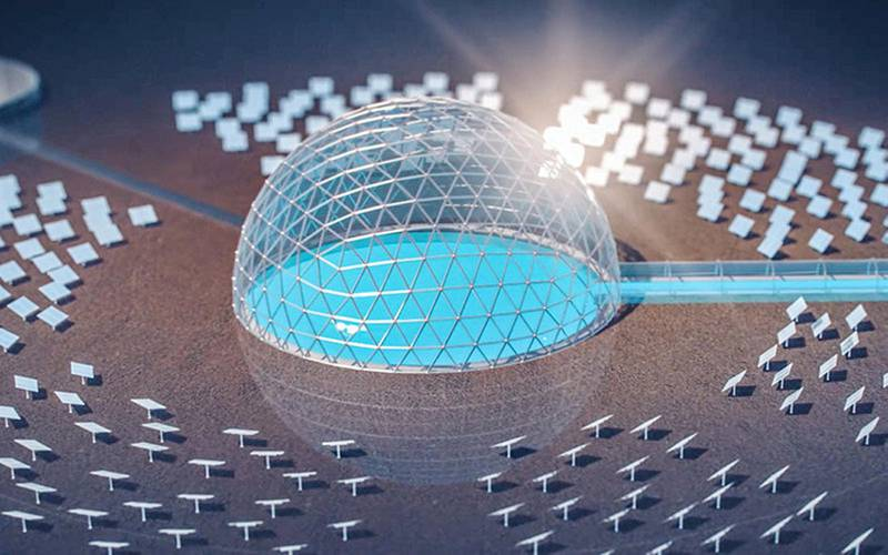 Put the kettle on: the solar dome planned for Saudi Arabia is a giant water heater. (SOLAR WATER/NEOM)