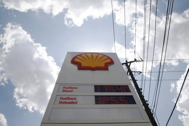 FILE PHOTO: Fuel prices are displayed on a sign at a Shell petrol station in Nairobi, Kenya, September 20, 2018. REUTERS/Baz Ratner/File Photo