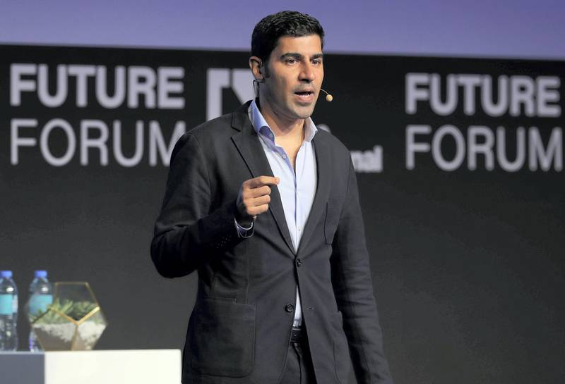 Abu Dhabi, United Arab Emirates - May 8th, 2018: Parag Khanna speaks about the Future of Connectivity at The National's Future Forum. Tuesday, May 8th, 2018 at Cleveland Clinic, Abu Dhabi. Chris Whiteoak / The National