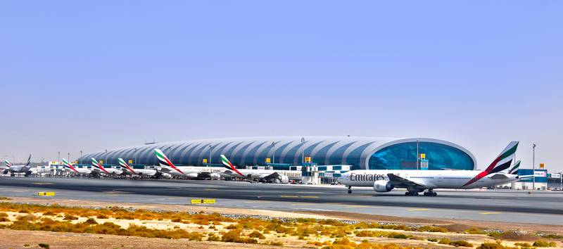 M4E838 Terminal 3 of the Dubai International Airport was opened officially in October 2008 and is specially designated for Emirates Airlines. Plamen Galabov / Alamy Stock Photo