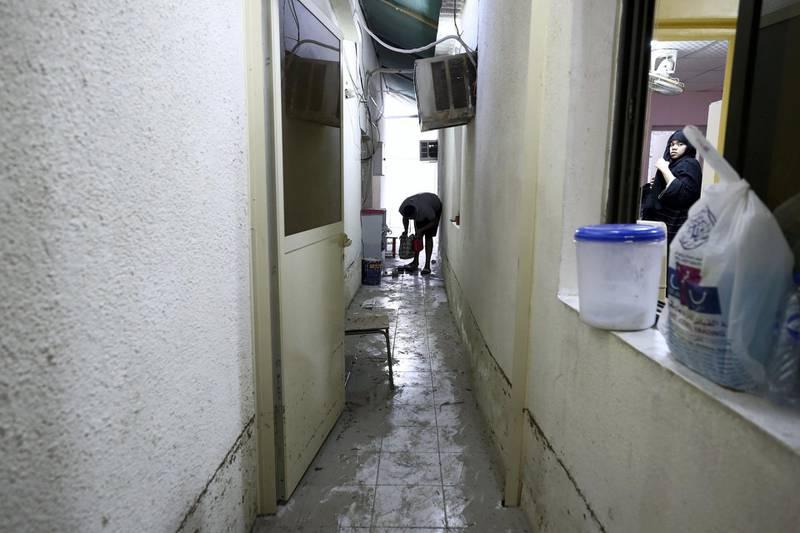 Dubai, United Arab Emirates - Reporter: Nick Webster: The inside of Sultan Al Mughiri's villa on Street 4A. Flooding in Rashidiya area of Dubai. Monday, January 13th, 2020. Rashidiya, Dubai. Chris Whiteoak / The National