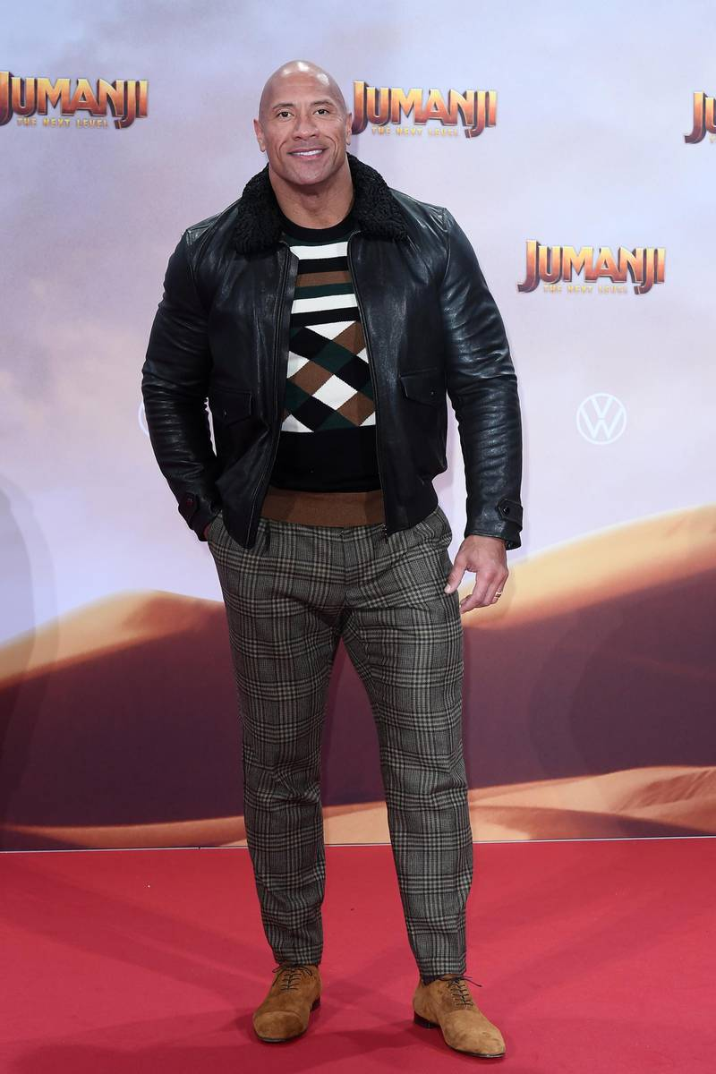 BERLIN, GERMANY - DECEMBER 04: Dwayne Johnson at the Berlin premiere of JUMANJI: THE NEXT LEVEL at Sony Center on December 04, 2019 in Berlin, Germany. (Photo by Matthias Nareyek/Getty Images for Sony Pictures)