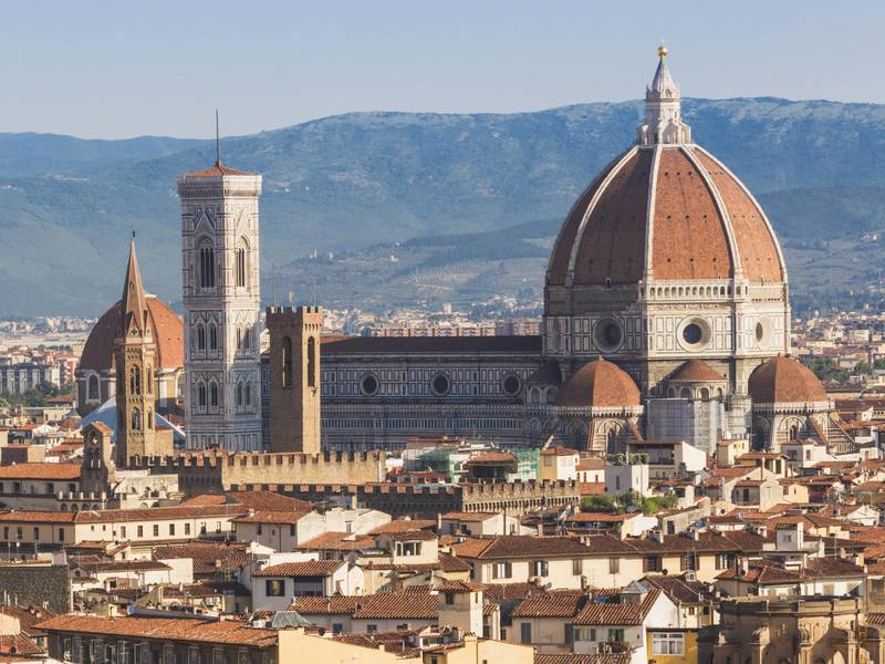 Florence, Florence Province, Tuscany, Italy. The Duomo, or cathedral. Basilica di Santa Maria del Fiore. Part of the UNESCO World Heritage Site of the Historic Centre of Florence. (Getty Images)