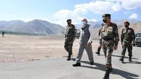 Indian Prime Minister Narendra Modi visits tense area bordering China