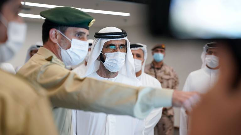 An image that illustrates this article Sheikh Mohammed bin Rashid tours Expo 2020 command centre