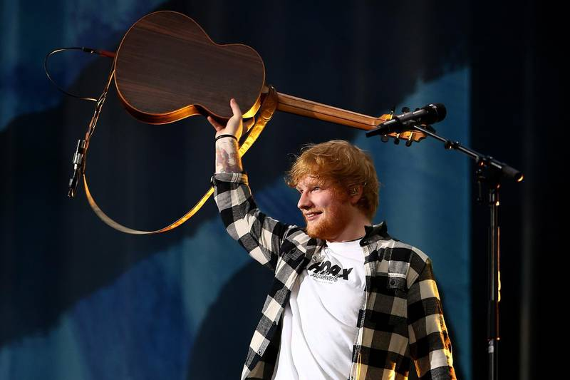 PERTH, AUSTRALIA - MARCH 02: Ed Sheeran performs in concert on the opening night of his Australian tour at Optus Stadium on March 2, 2018 in Perth, Australia.  (Photo by Paul Kane/Getty Images)