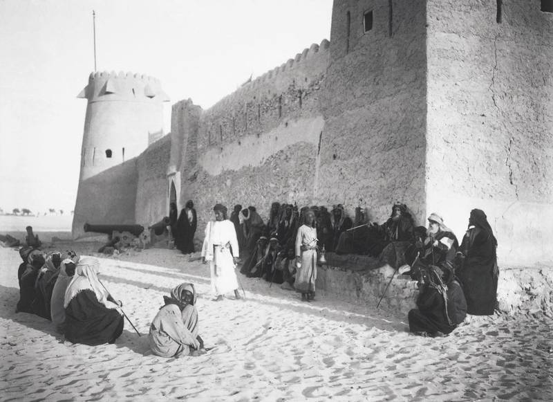 historic photo of the Qasr Al Hosn  fort in Abu Dhabi from the Hermann Burchardt collection.  Credit:  Hermann Burchardt © Berlin Museum of Ethnography