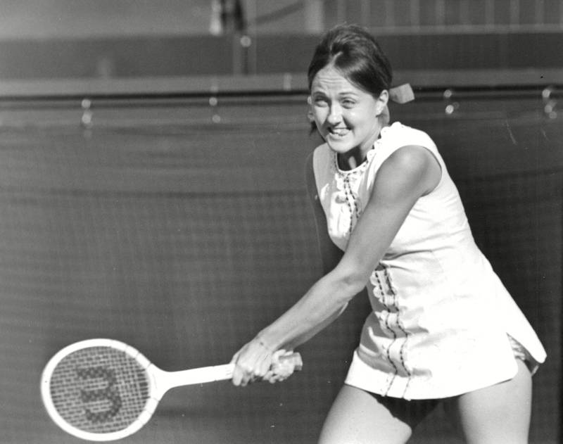 Mandatory Credit: Photo by ANL/Shutterstock (5740832a) Peaches Bartkowiez In Action At The 1970 Wimbledon Tennis Championships. (real Name Jane Bartkowicz) Box 658 82112153 A.jpg. Peaches Bartkowiez In Action At The 1970 Wimbledon Tennis Championships. (real Name Jane Bartkowicz) Box 658 82112153 A.jpg.