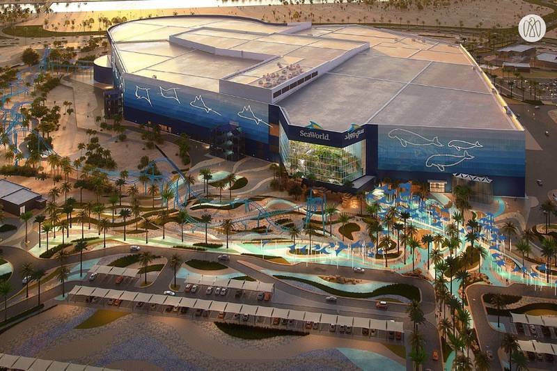 """SeaWorld AbuDhabi, which construction is over 40% complete, will include multiple levels with a total area of approximately 183,000sqm, six distinct realms which tell a unified and immersive """"One Ocean"""" story and one of the world's largest and most progressive indoor aquariums. Courtesy Abu Dhabi Government Media Office"""