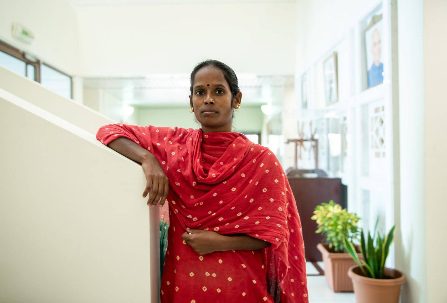 Abu Dhabi, United Arab Emirates, July 2, 2019.  This is for a runaway maids story. Veerammal Radhakishnanand ran away from an agent in Ajman and asked for help at the indian embassy.Victor Besa/The NationalSection:  NAReporter:  Ramola Talwar