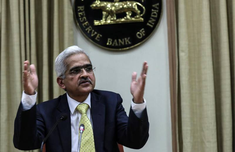 epa07225656 Newly appointed Reserve Bank of India (RBI) Governor Shaktikanta Das, speaks during his first media conference at the RBI head office, in Mumbai, India, 12 December 2018. Former economic affairs secretary Shaktikanta Das is the 25th governor of the Reserve Bank of India, with an appointment term of three years.  EPA/DIVYAKANT SOLANKI