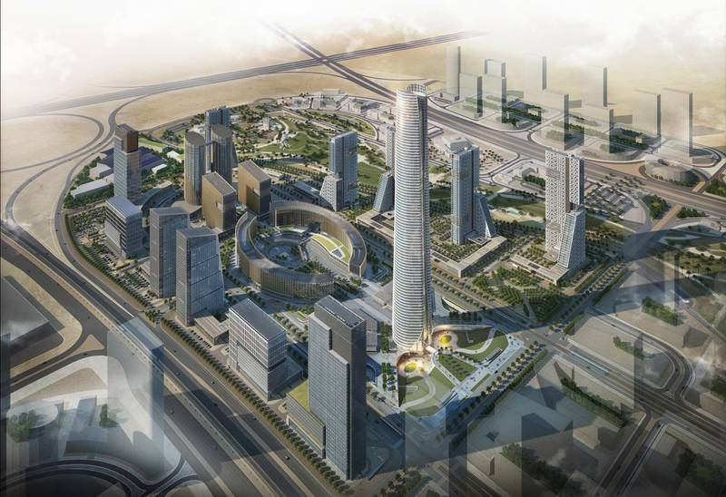 A rendering of Iconic Tower. The Capital Business District (CBD) being built in Cairo's New Administrative Capital. The 20 skyscrapers in the district include the 385-metre Iconic Tower, which will be the tallest building in Africa. Photo: Dar Al Hendasah