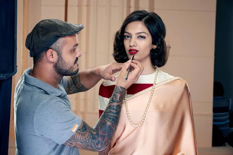 make up artist Daniel Bauer, appearing at the Dubai Bride Show, 2015. CREDIT: Dubai Bride Show *** Local Caption ***  al24mr-Dubai Bride-2-p5.jpg