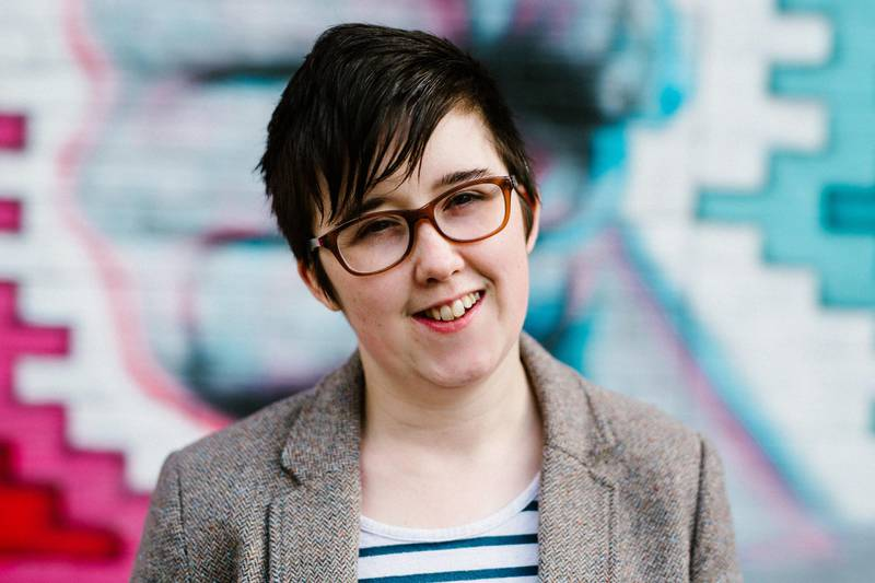 """(FILES) In this file photo taken on May 19, 2017 A handout picture released by Jess Lowe Photography on April 19, 2019 and taken on May 19, 2017 shows journalist and author Lyra McKee posing for a photograph in Belfast.  Four men were arrested under the Terrorism Act in Northern Ireland on February 11, 2019, in connection with the death of journalist Lyra McKee in 2019, police said. The men, aged 20, 27, 29 and 52, were detained in Londonderry and were being held in Belfast after the 29-year-old was shot in the head during a night of rioting and petrol bombing. - RESTRICTED TO EDITORIAL USE - MANDATORY CREDIT """"AFP PHOTO / JESS LOWE PHOTOGRAPHY """" - NO MARKETING NO ADVERTISING CAMPAIGNS - DISTRIBUTED AS A SERVICE TO CLIENTS    / AFP / JESS LOWE PHOTOGRAPHY / Jess LOWE / RESTRICTED TO EDITORIAL USE - MANDATORY CREDIT """"AFP PHOTO / JESS LOWE PHOTOGRAPHY """" - NO MARKETING NO ADVERTISING CAMPAIGNS - DISTRIBUTED AS A SERVICE TO CLIENTS"""