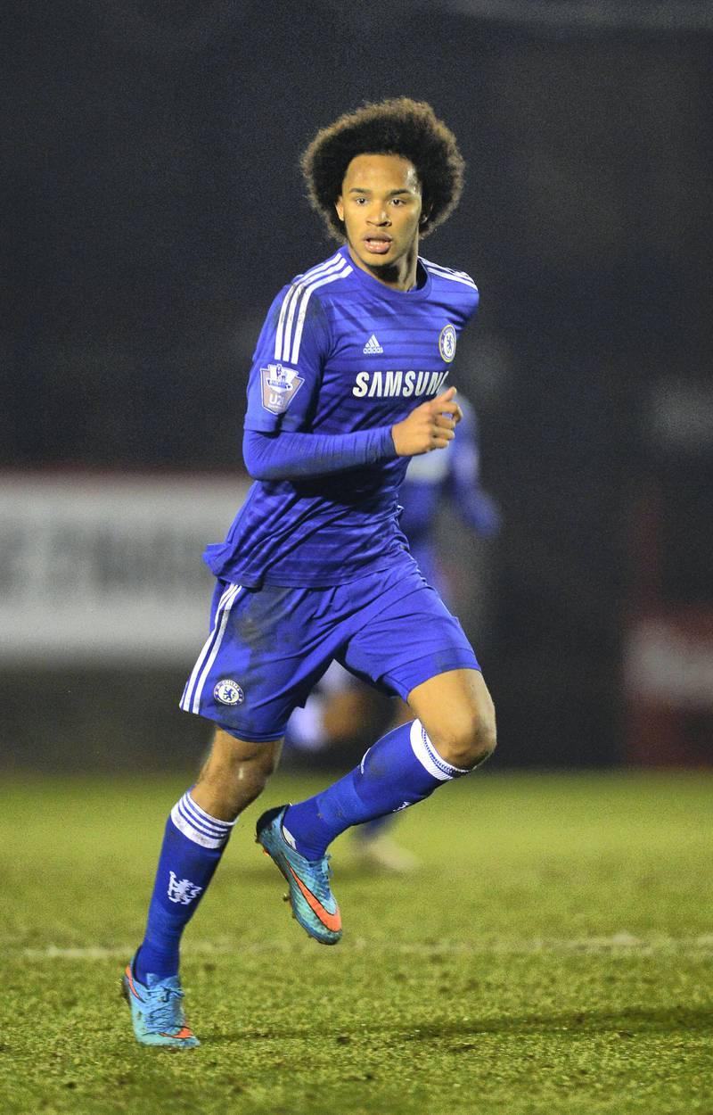 ALDERSHOT, ENGLAND - FEBRUARY 25:  Isaiah Brown of Chelsea during the Round of 16 in the UEFA Youth League match between Chelsea Fc and FC Zenit at the ESS Stadium on February 25, 2015 in Aldershot, England.  (Photo by Christopher Lee/Getty Images)