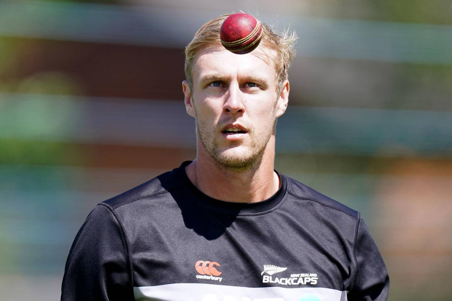 New Zealand's Kyle Jamieson during a nets session at Edgbaston, Birmingham. Picture date: Wednesday June 9, 2021. PA Photo. See PA story CRICKET England. Photo credit should read: Mike Egerton/PA Wire.RESTRICTIONS: Editorial use only. No commercial use without prior written consent of the ECB. Still image use only. No moving images to emulate broadcast. No removing or obscuring of sponsor logos