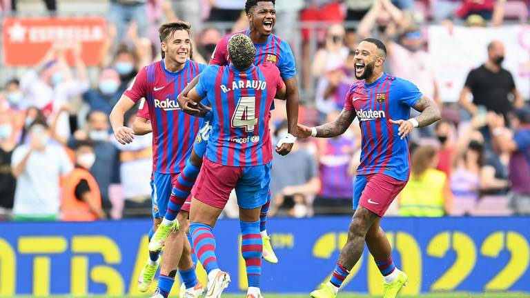 An image that illustrates this article Fati's memorable return from injury gives Barca much-needed win