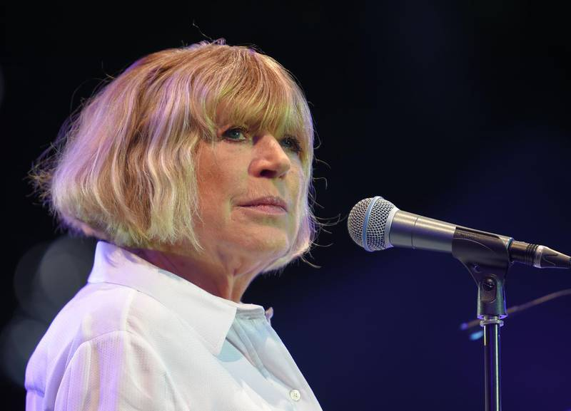 (FILES) In this file photo English singer Marianne Faithfull performs on stage during the 23rd edition of the Cognac Blues Passion festival on July 08, 2016 in Cognac.  The British singer and actress Marianne Faithfull has been infected with the corona virus. The 73-year-old is being treated in a London hospital for the lung disease Covid-19, wrote the music industry trade service Republic Media on Saturday, citing Faithfull's manager François Ravard on Twitter. Her condition is stable and she is responding to treatment. / AFP / GUILLAUME SOUVANT