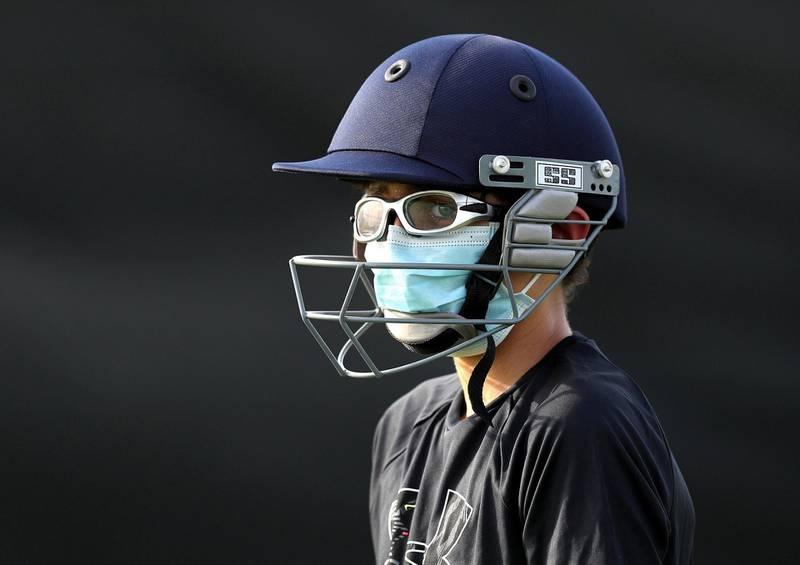 Dubai, United Arab Emirates - Reporter: Paul Radley. Sport. Aman. Cricket training returns with Its just cricket UAE returning to training in Jebel Ali. Monday, June 1st, 2020. Dubai. Chris Whiteoak / The National