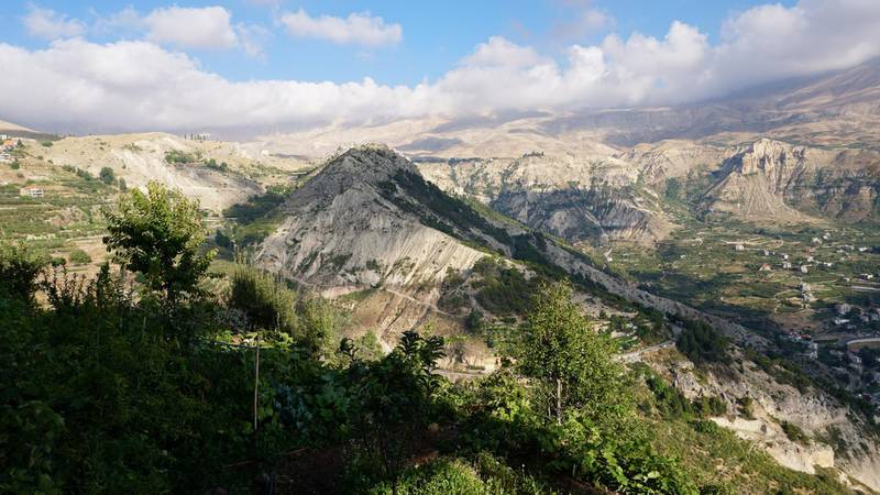 View of the town of Bsharreh, Lebanon, August 9, 2020. Photo by Aram Abdo