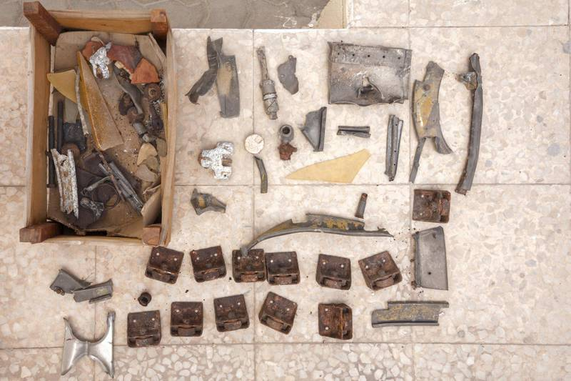 Sharjah, UAE - Mar 19, 2018 - Wreckage found at a World War II era air crash site, now at the Al Mahatta Museum, Sharjah - Navin Khianey for The National