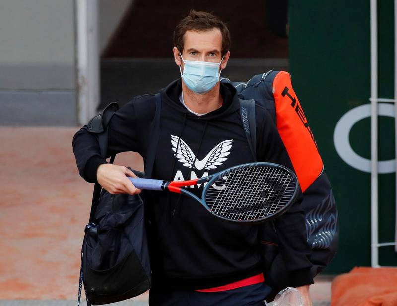 FILE PHOTO: Tennis - French Open - Roland Garros, Paris, France - September 27, 2020. Britain's Andy Murray walks out before his first round match against Switzerland's Stan Wawrinka REUTERS/Charles Platiau/File Photo