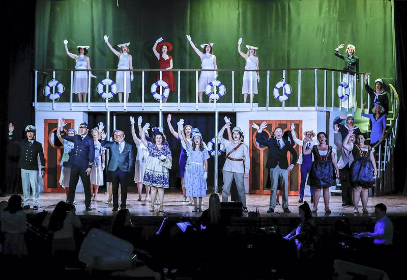 """Abu Dhabi, UAE.  May 2, 2018.  Dress rehersals of Cole Porter's """"Anything Goes"""" will be performed by the Abu Dhabi Choral Group this weekend.Victor Besa / The NationalWeekendReporter:  Ellen Fortini"""