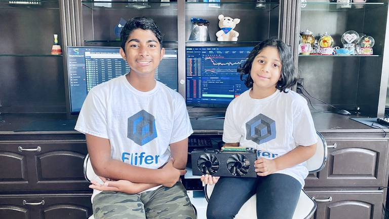 An image that illustrates this article How a teenager and his sister are making $35,000 a month by mining Bitcoin