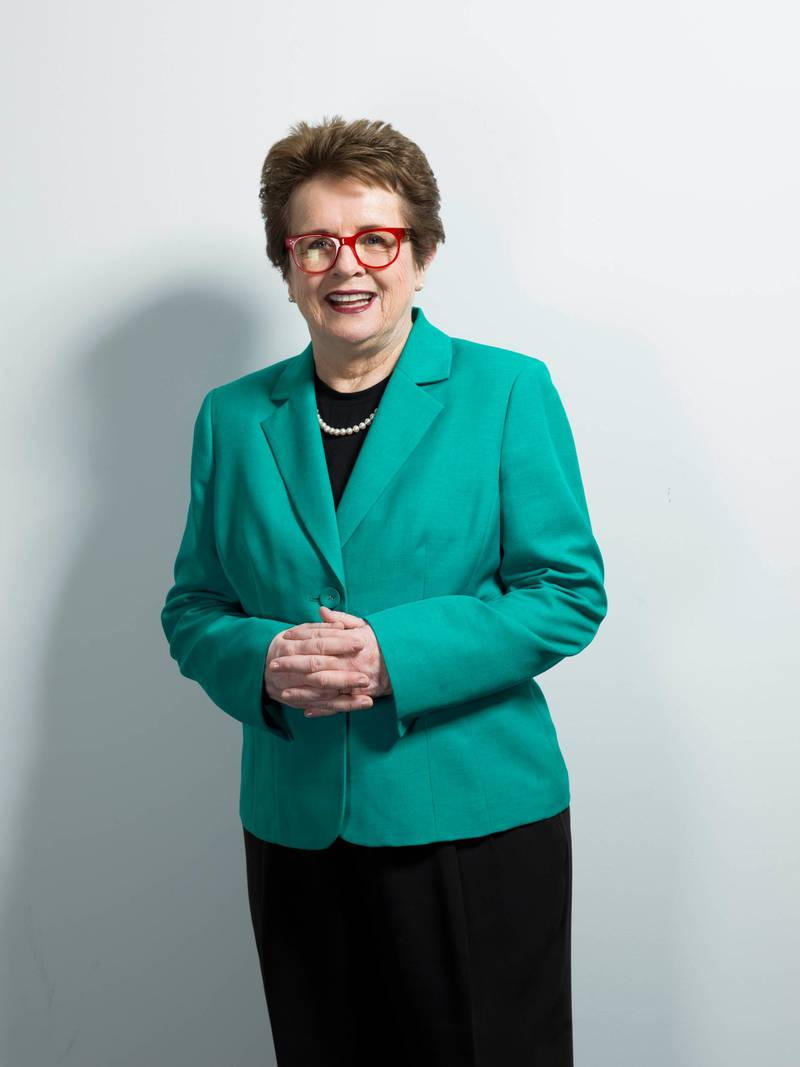 Billie Jean King poses for a portrait on Thursday, June 4, 2015 in New York. King believes Caitlyn Jenner has given people clarity about transgender issues beyond the progress already seen four decades after they shared the international spotlight as athletes. (Photo by Scott Gries/Invision/AP)