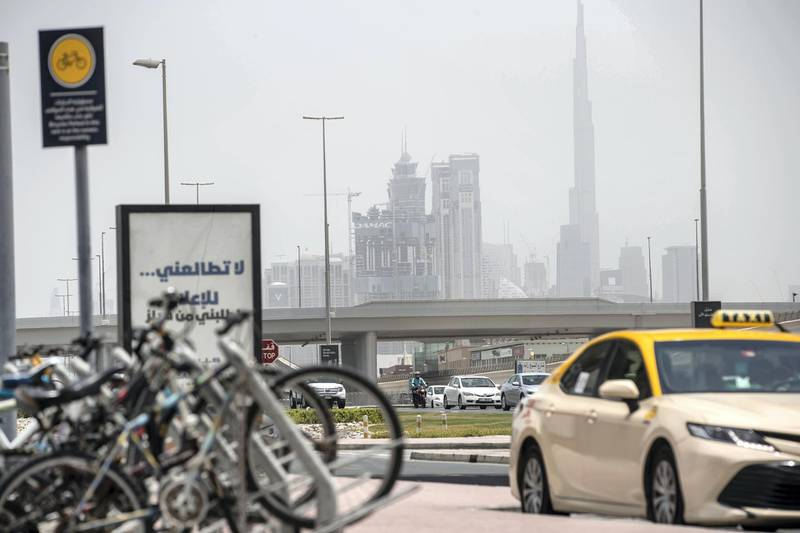DUBAI, UNITED ARAB EMIRATES. 26 JULY 2020. HOT WEATHER STANDALONE. As the summer temperatures keep in the mid 40 degrees life continues with the current pandemic circumstances.  (Photo: Antonie Robertson/The National) Journalist: Razmig Bedirian. Section: National.