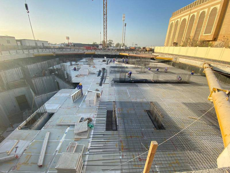 Construction of The Hindu Temple, Jebel Ali, January 2021. Courtesy Hindu Temple, Jebel Ali