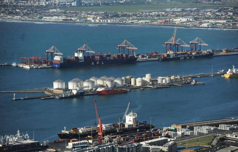 Lots of activities in and around the Port of Cape Town, indicates that the import and export trade in picking up, in Cape Town, South Africa, on August 11, 2020, amid covid-19 pandemic. Photo by Armand Hough/RealTime Images/ABACAPRESS.COM/Reuters