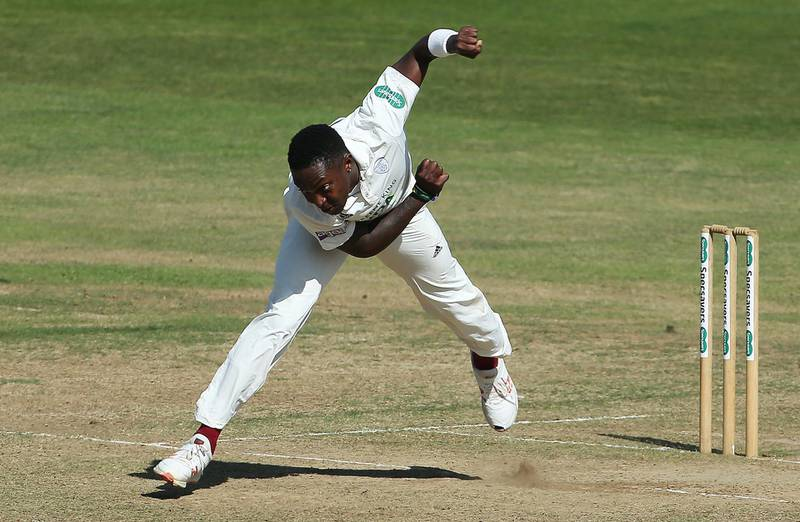 Hampshire's Fidel Edwards in bowling action during day three of the Specsavers County Championship division one match at The Ageas Bowl, Southampton.