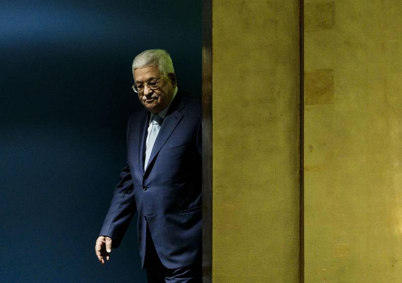 epaselect epa07051545 Palestine's President Mahmoud Abbas arrives to address the General Debate  of the 73rd session of the General Assembly of the United Nations at United Nations Headquarters in New York, New York, USA, 27 September 2018. The General Debate of the 73rd session began on 25 September 2018 and runs until 01 October 2018.  EPA/JUSTIN LANE