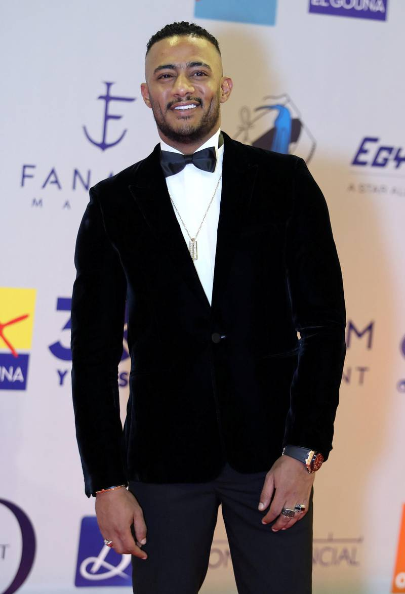 epa07856458 Egyptian artist Mohamed Ramadan attends the third Gouna Film Festival, in El Gouna, Egypt, 19 September 2019 (issued 20 September 2019). The film festival is held at the red sea city of El Gouna from 19 to 27 September.  EPA-EFE/MAHMOUD AHMED *** Local Caption *** 55482143