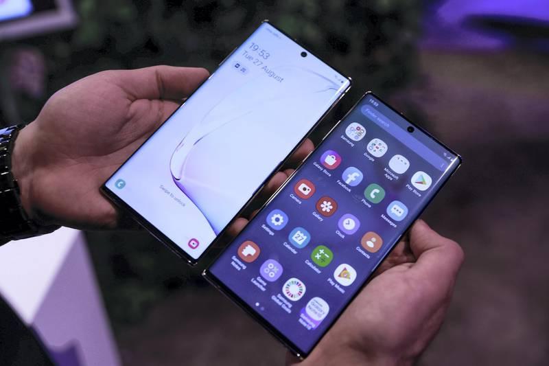 Dubai, United Arab Emirates, August 27, 2019.  Samsung Galaxy Note 10 Launch. -- Victor Besa/The NationalSection:  BZReporter:  Alkesh Sharma