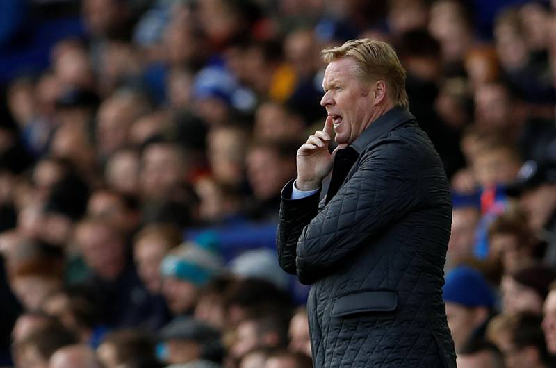 """Soccer Football - Premier League - Everton vs Arsenal - Goodison Park, Liverpool, Britain - October 22, 2017   Everton manager Ronald Koeman      Action Images via Reuters/Lee Smith    EDITORIAL USE ONLY. No use with unauthorized audio, video, data, fixture lists, club/league logos or """"live"""" services. Online in-match use limited to 75 images, no video emulation. No use in betting, games or single club/league/player publications. Please contact your account representative for further details."""