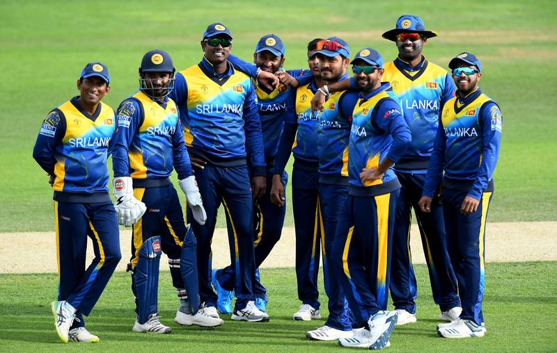 SOUTHAMPTON, ENGLAND - MAY 27: Sri Lanka wait for the 3rd Umpire's decision on the stumping of Usman Khawaja of Australia during the ICC Cricket World Cup 2019 Warm Up match between Australia and Sri Lanka at The Hampshire Bowl on May 27, 2019 in Southampton, England. (Photo by Alex Davidson/Getty Images)