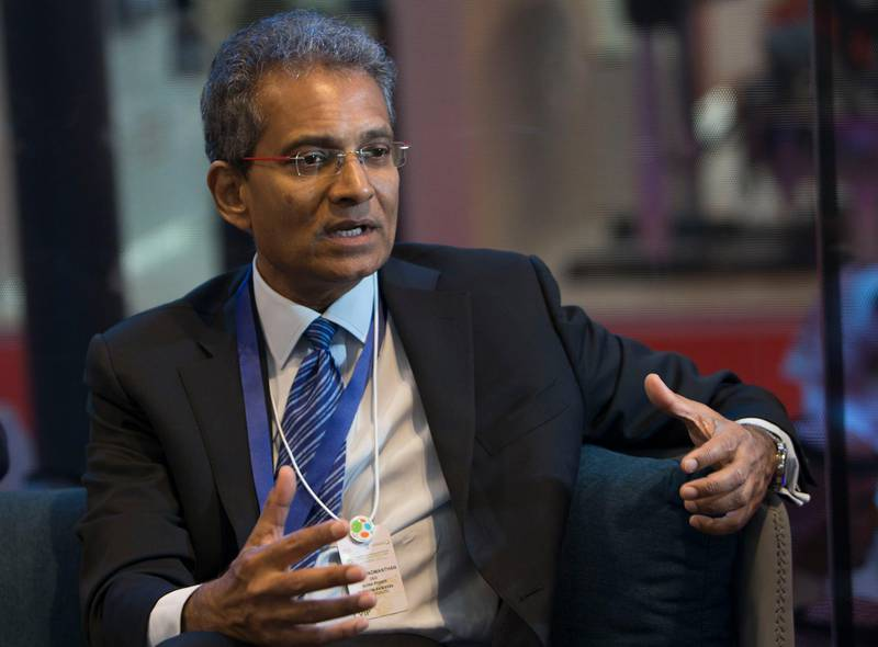Dubai, United Arab Emirates -Interview with Paddy Padmanathan, President and CEO of  ACWA Power at WETEX, Dubai International Convention and Exhibition Centre.  Leslie Pableo for The National for Jennifer Ghana's story