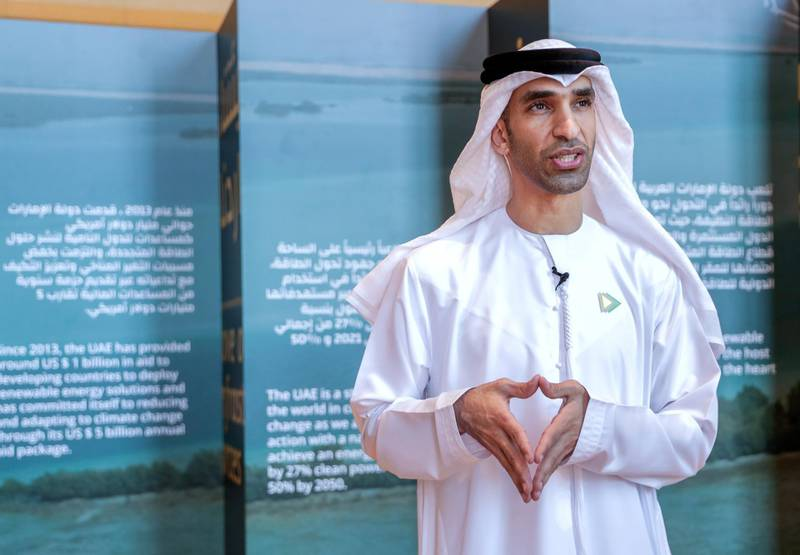 Abu Dhabi, United Arab Emirates, June 30, 2019.   Abu Dhabi Climate Meeting at the Emirates Palace.-- His Excellency Dr. Thani bin Ahmed Al Zeyoudi, Minister of Climate Change and Environment.Victor Besa/The NationalSection:  NAReporter:  John Dennehy