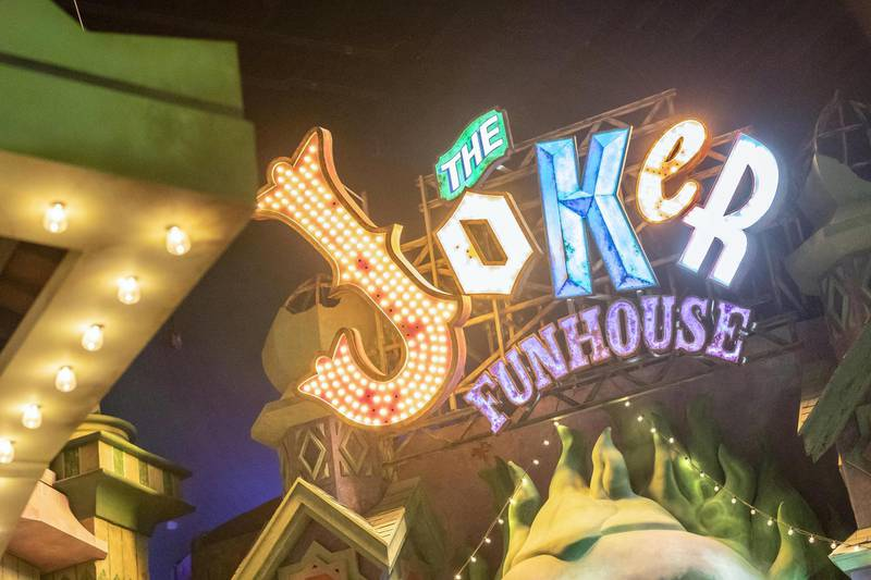ABU DHABI, UNITED ARAB EMIRATES. 24 JULY 2018. Warner Brother World on Yas Island West. Media tour of the Warner Bros World Abu Dhabi opening. The Joker Fun House. (Photo: Antonie Robertson/The National) Journalist: Haneen Dajani. Section: National.
