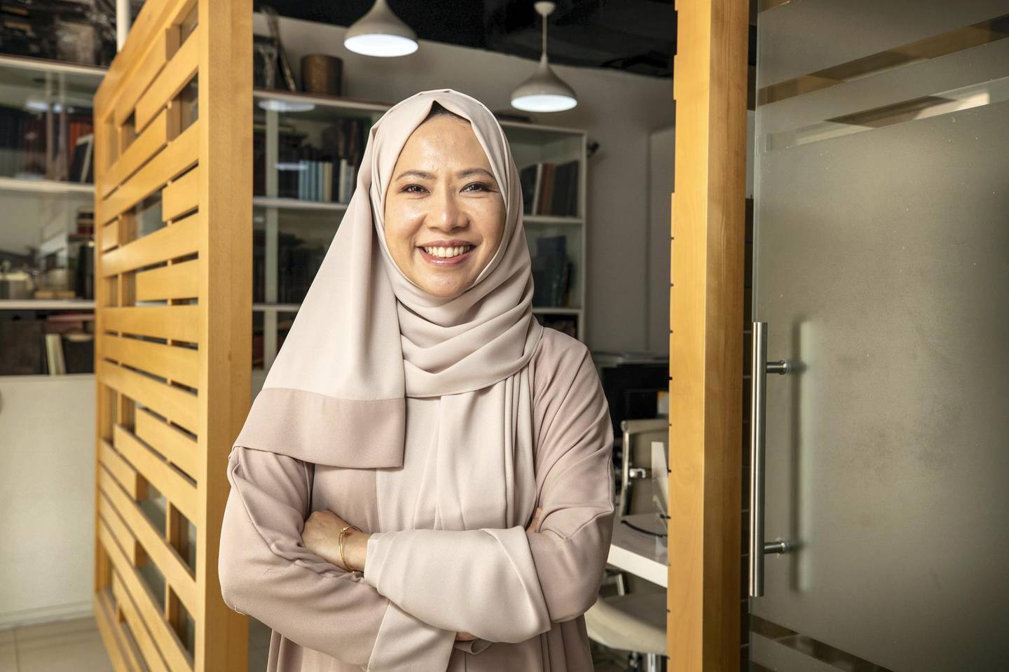 DUBAI, UNITED ARAB EMIRATES. 21 JUNE 2020. Iman Suguitan,  founder of Ahsant, a hotel supplies company, who started her business during the last recession and is starting another firm now. For a feature on start-ups launching during the pandemic. (Photo: Antonie Robertson/The National) Journalist: David Dunn. Section: Business.