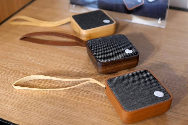 Bluetooth speaker at The Name concept store and a resto café at Dubai Design District in Dubai on June 23,2021. Pawan Singh / The National. Story by Janice Rodrigues