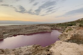 Jordan's red Dead Sea pools distract from environmental disaster
