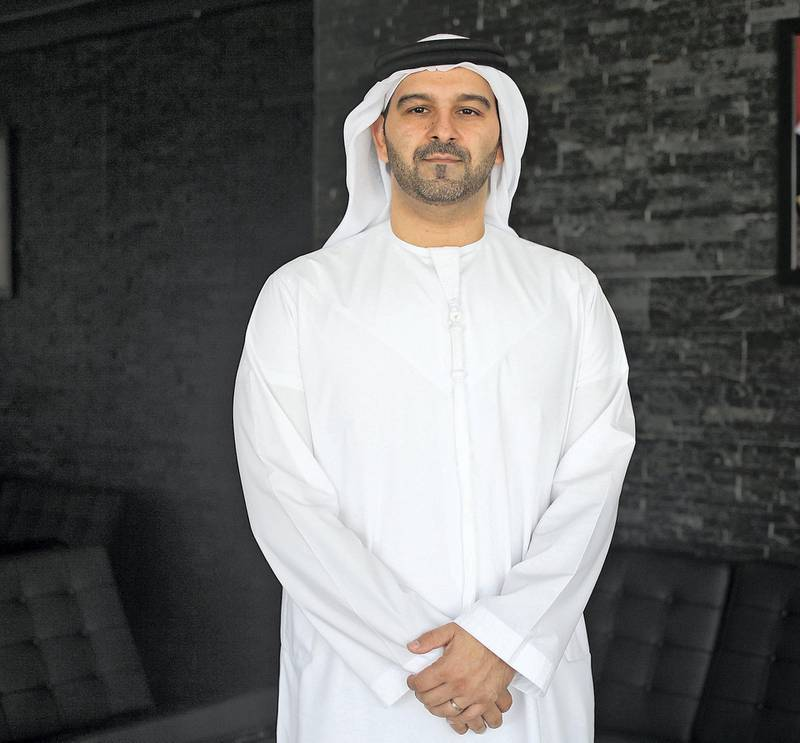 Dubai, UAE, June 16, 2015:Marwan Lutfi is the chief executive of Al Etihad Credit bureau. A native of Dubai, he has been running this bureau for 2 years. Prior to working for AECB he was employed by DIFC.He was photographed in his office. Lee Hoagland/The National *** Local Caption ***  LH1606_AL_ETIHAD_CREDIT_BUREAU_CEO_0005.JPG