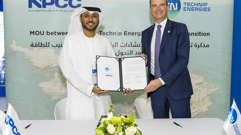An image that illustrates this article Technip and Abu Dhabi's NPCC form joint venture in energy transition push