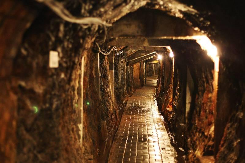 G4K39Y Hallway in coal mine, Sawahlunto, West Sumatra, Indonesia. Alamy