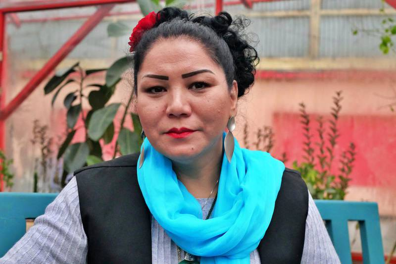 Pictured: Laila Haidari, 41, launched Taj Begum restaurant in Kabul 10 years ago with just $250. She has fought hard to make it a success and now fears a power-sharing deal with the Taliban could put her and other women's businesses at risk. Photo by Charlie Faulkner