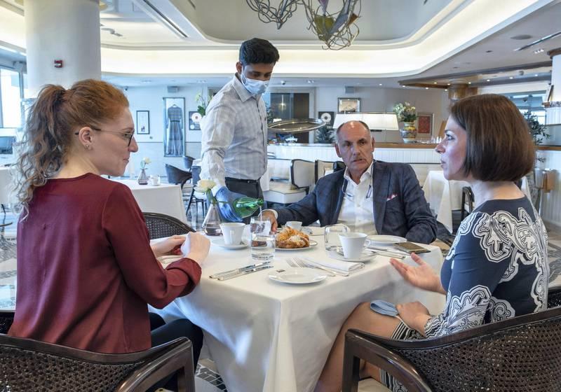 Abu Dhabi, United Arab Emirates, June 15, 2020.    Cafe Milano at the Four Seasons Hotel, Abu Dhabi.Victor Besa  / The NationalSection:  IfReporter:  Janice Rodrigues