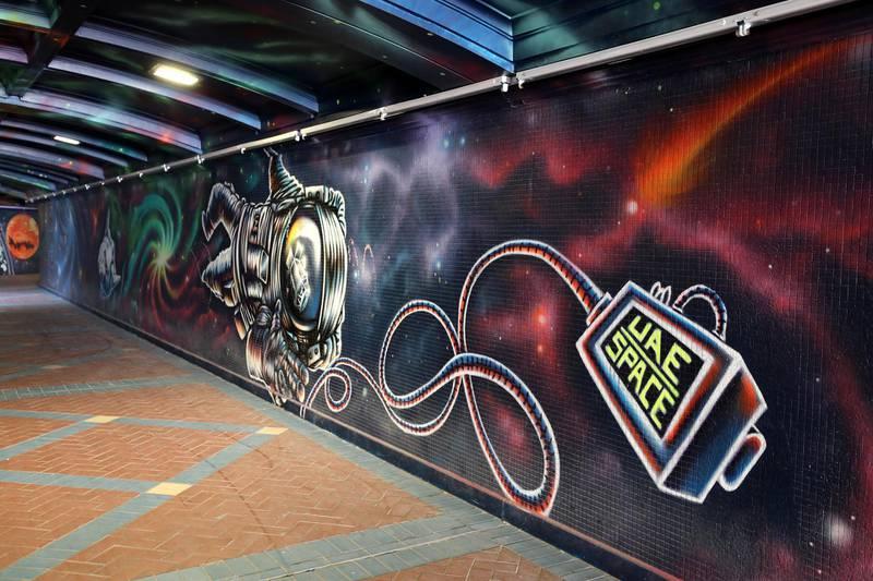 Abu Dhabi, United Arab Emirates - Reporter: N/A: Photo project. Street art and graffiti from around the UAE. Monday, January 27th, 2020. Corniche, Abu Dhabi. Chris Whiteoak / The National